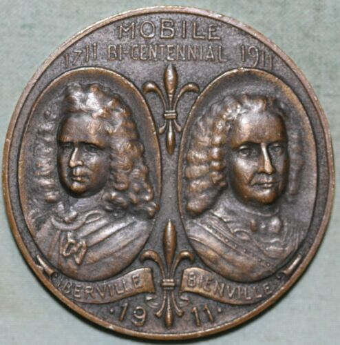 Mobile,Al 1911 Bronze Bi-Centennial Medal~ So Called Dollar~Rare!!~1000 Mintage