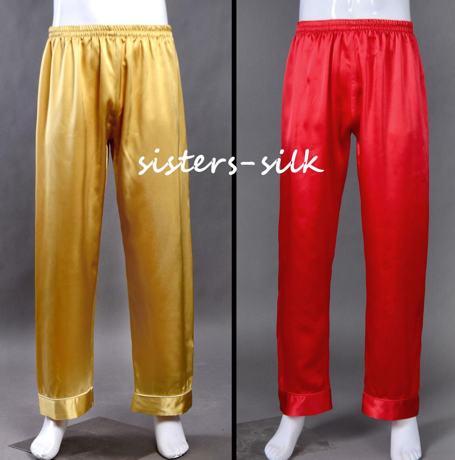 Women Unisex 100 Silk Lounge Pants 16 Momme Silk