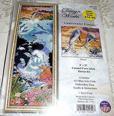 "Design Works Counted Cross Stitch Kit UNDERWATER FANTASY 8"" x 25"""