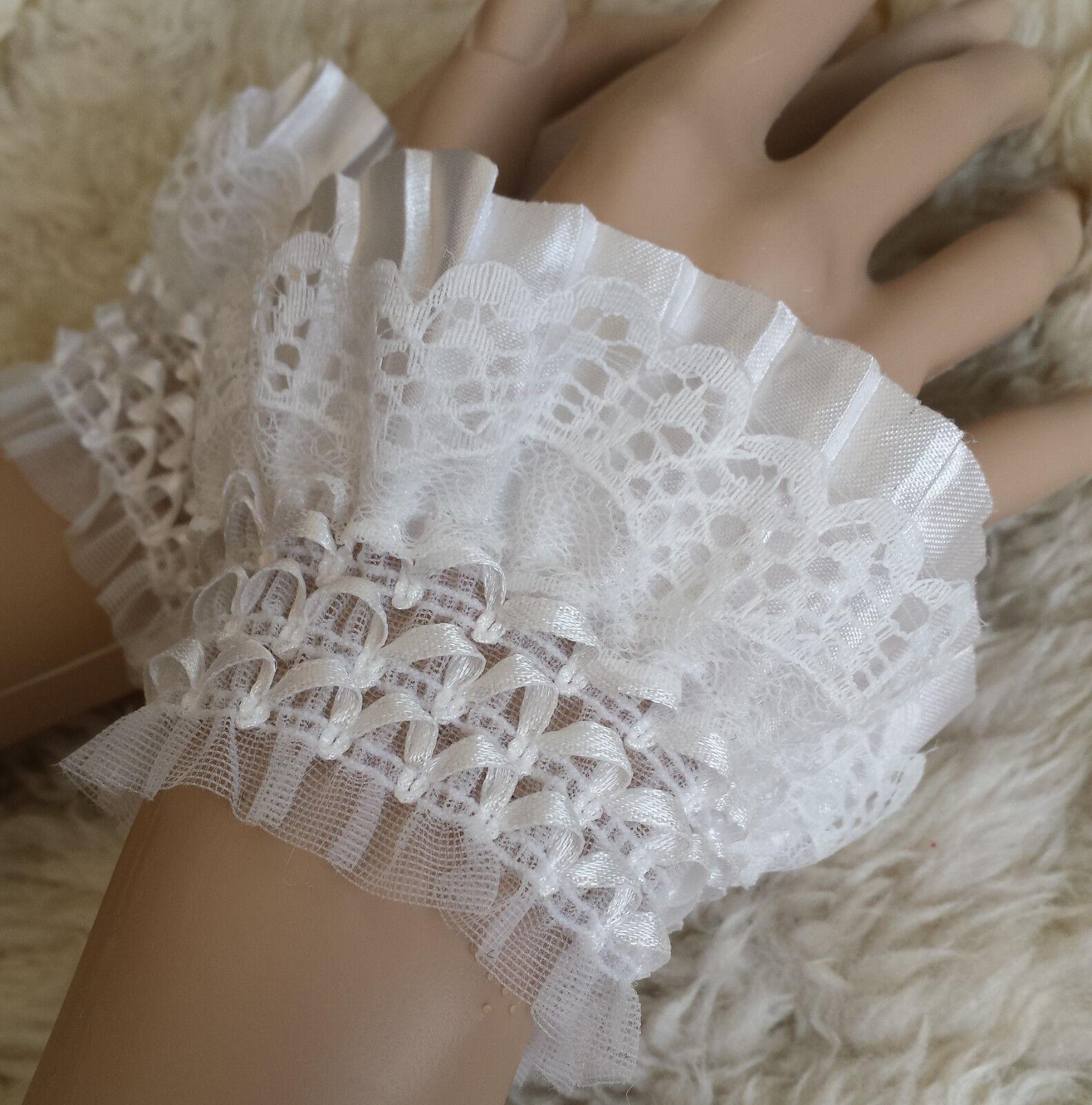 Armband Manschetten steampunk handschuhe Hochzeit Spitze pulswärmer gothic cuffs