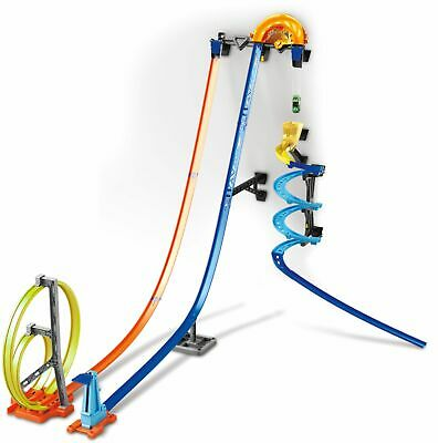 Hot Wheels - Track Builder Vertical Launch Kit - Blue/Orange