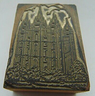 Printing Letterpress Printers Block 4 Point Castle Looking Building