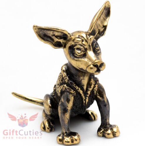 Solid Brass Figurine Manchester or Russkiy Toy Terrier dog IronWork