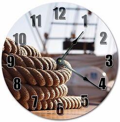 Ocean Beach Home Decor Wall Quartz Clocks NAUTICAL SHIP BOAT ROPE CLOCK 4002