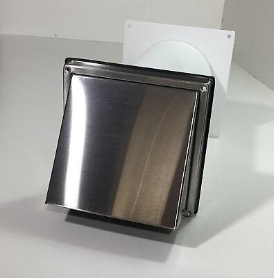 Mauerkasten Ø 150 mm Anschluß rund Gitter weiß Wetterschutzgitter Abluft