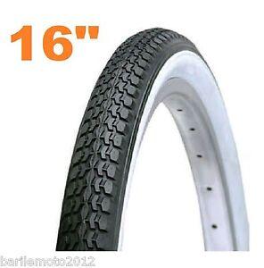 Copertone-Pneumatico-16-x-1-75-Bici-Olanda-Graziella-Epoca-Bianco-Nero