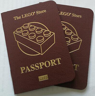 2x LEGO® Lego Store Passport (Lego Reisepass) Neu unbenutzt (2017) zum Sammeln (Lego Stores)