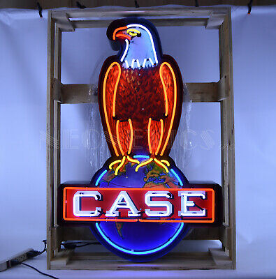 2 Neon sign Farm tractors Ford Jubilee Case IH Eagle International Harvester