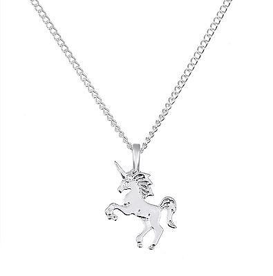 ☆ Silber Einhorn Unicorn Kette |  Anhänger | Designer Kette | Edelmetall ☆