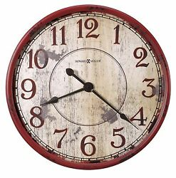 HOWARD MILLER - 625598 GALLERY   WALL CLOCK - BACK 40 625-598 -32  DIAMETER