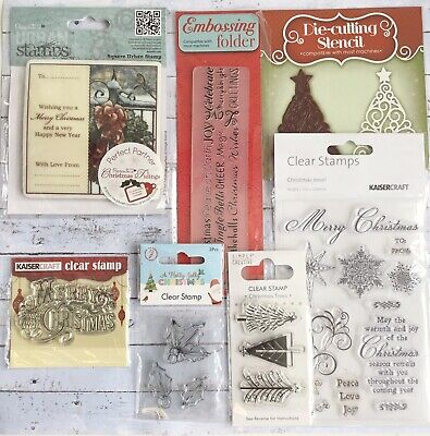 Cardmaking Christmas Stamps, Embossing Folder and Die