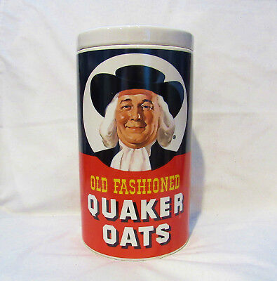 Old Fashioned Quaker Oats Regal China Ceramic Cookie Jar 9.5 Inches Tall