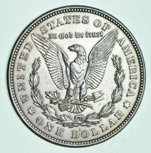 1921-D Morgan Silver Dollar - Last Year Issue 90% $1.00 Bullion Polished - XF/AU