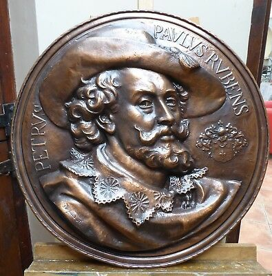 LARGE COPPER CHARGER PETER PAUL RUBENS SIGNED  1930,S SHIPPING MAINLAND ENGLAND