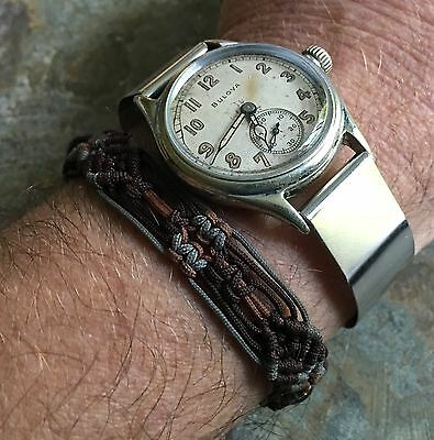 Thin cuff watch band 16mm 1940s vintage for spring bars or fixed lugs 13 sold for sale  Shipping to India