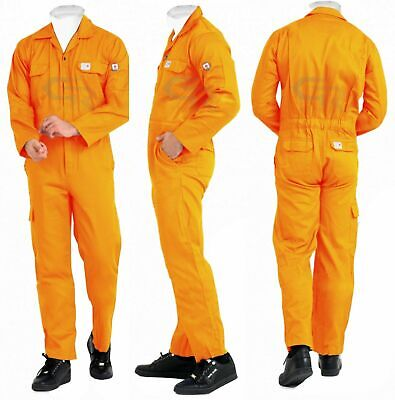 Flame Resistant Clothing Fr Overalls Mechanic Jumpsuit Coveralls Orange