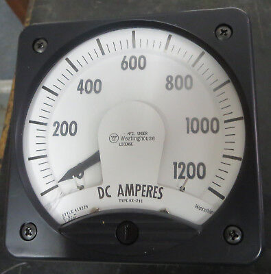 Westinghouse Kx-241 Amp Meter 0-1200 Amps