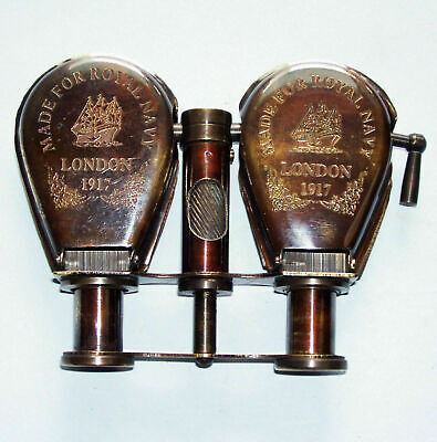 Antique Brass Monocular Binocular Telescope ~ Vintage Nautical Spyglass Scope
