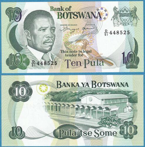 BOTSWANA ND(1992) 10 PULA P-12 GEM UNC  - US Seller