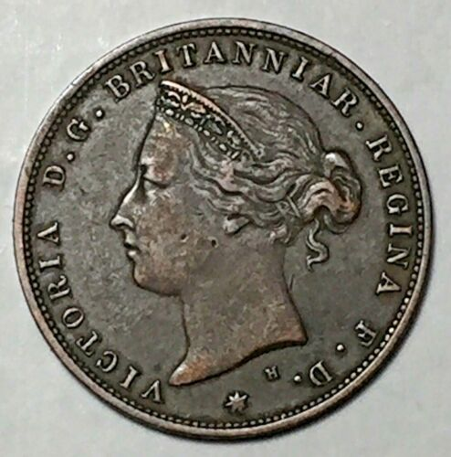 GREAT BRITAIN, States of Jersey, Queen Victoria, 1/24th Shilling, 1877 H