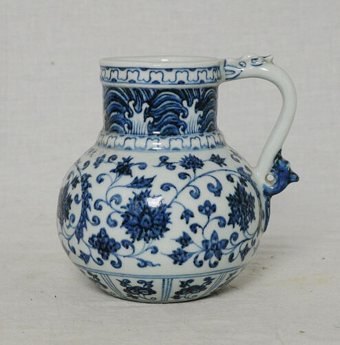 Chinese  Blue and White  Porcelain  Water  Scoop  With  Mark      M3420