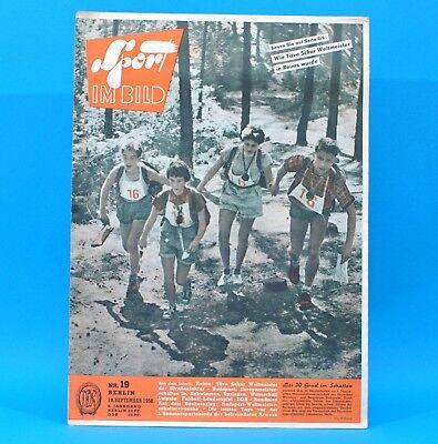 DDR Sport im Bild 19/1958 Fußball Radsport WM Wische Schwimm-EM Sachsenring