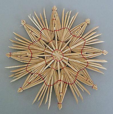 mit rotem Faden ca. 24 cm hoch,Weihnachtsstern,Stern 101-243 (Rustikal Christbaumschmuck)