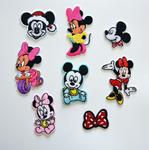 Walt Disney MICKEY MINNIE LOVE Irion on Patches//Sew On//Applique//Embroidered
