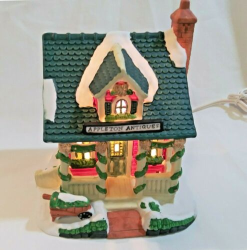 """Victorian Village 2000 Edition Appleton Antiques Lighted 5"""" Christmas House"""