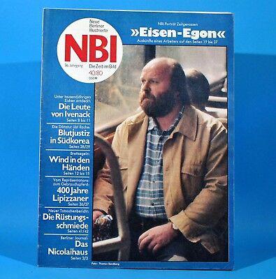 DDR NBI 40 1980 Ivenack Gestüt Lipizza Brettsegeln WMK Berlin Südkorea Simeoni N
