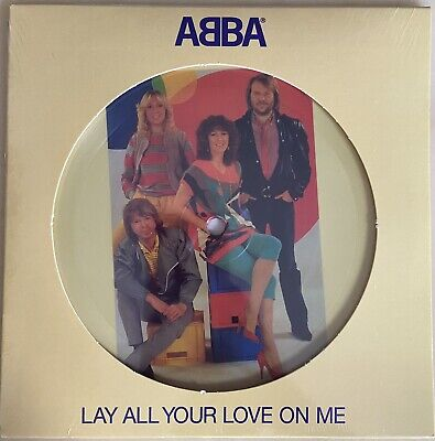 ABBA Lay all your love on me single picture disc vinyl (vinyle...