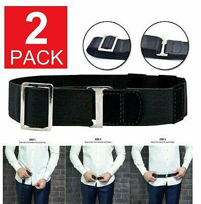 2x Adjustable Near Shirt Stay Best Tuck It Belt Shirt Holder Belt for Women Men Clothing, Shoes & Accessories