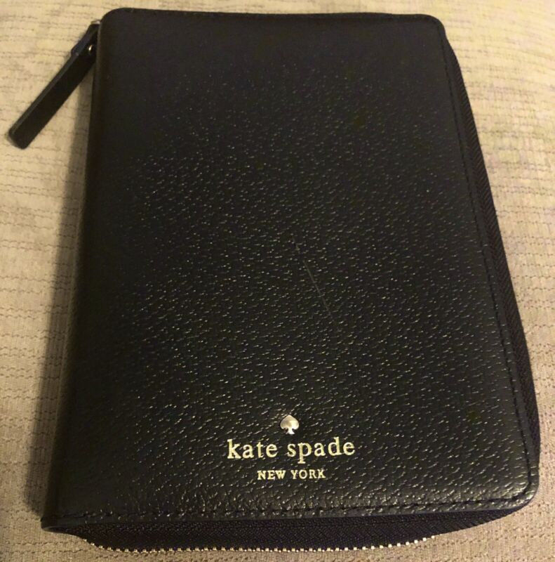 Black Kate Spade Mikas Planner Agenda Organizer Wallet
