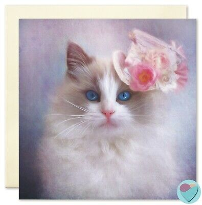 Cat Card Birthday Thank You Get Well Soon Note to or from Ragdoll Cat Lover Rag Doll Note Cards
