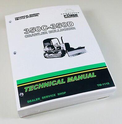 John Deere Jd 350c 350d Crawler Dozer Service Repair Manual 1115 Color Schematic