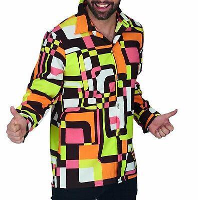Kostüm Retro Hemd Herren 60er Jahre Hippie Hemd bis Gr.60 Schlagerfest Karneval (60er Jahre Herren)
