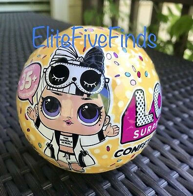 Lol Surprise Confetti Pop Doll Wave 2 Series 3 Ball Dolls 9 Layers In Hand New