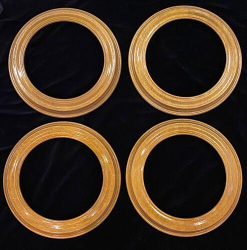 """4 Van Hygan & Smythe Wood Collectable Plate Frames 8.5"""" inside 11"""" outside"""