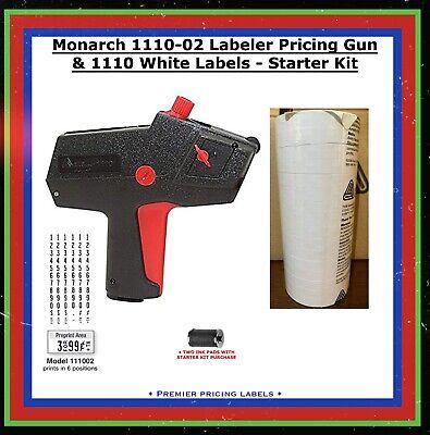 Genuine Monarch 1110-02 Labeler Pricing Gun 1110 White Labels - Starter Kit