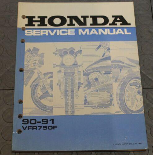 NOS OEM Honda Service Shop Manual NEW 90-91 VFR750F VFR 750 F