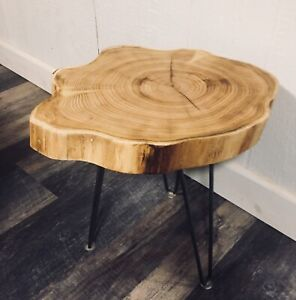 Live Edge Cookie Side Table