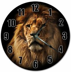 10.5 MIGHTY LION KING PORTRAIT CLOCK - Large 10.5 Wall Clock - Home Clock 4026