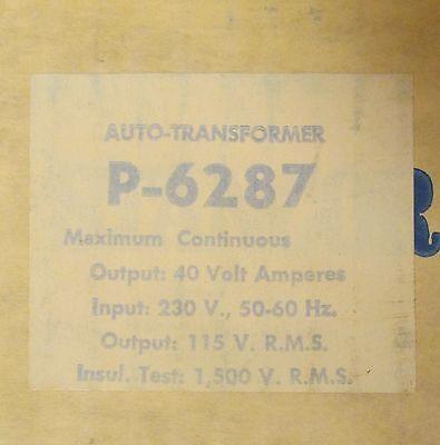 Stancor P-6287 40va Primary 230 Secondary 115 Auto Transformer P6287