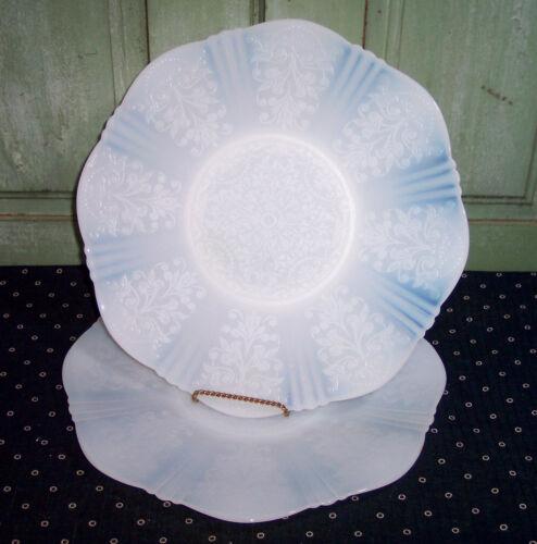 """Pair Vintage MacBeth Evans American Sweetheart Round Chop Plates 11-7/8"""""""