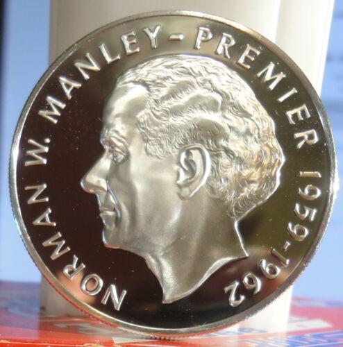 Jamaica 5 Dollars GEM BU Proof 1973  KM#59. .925 Silver  coin. 1.2335 oz. ASW