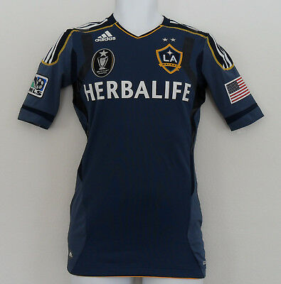 best website e2333 6df6b Adidas LA GALAXY TECHFIT AUTHENTIC Soccer Jersey MLS CUP CHAMPION Shirt~Men  sz 8