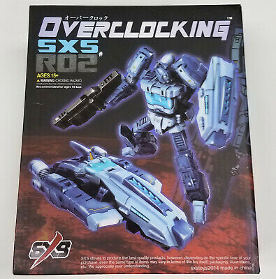 SXS R02 Overclocking Transformers 3rd Party Blurr Action Figure 2014