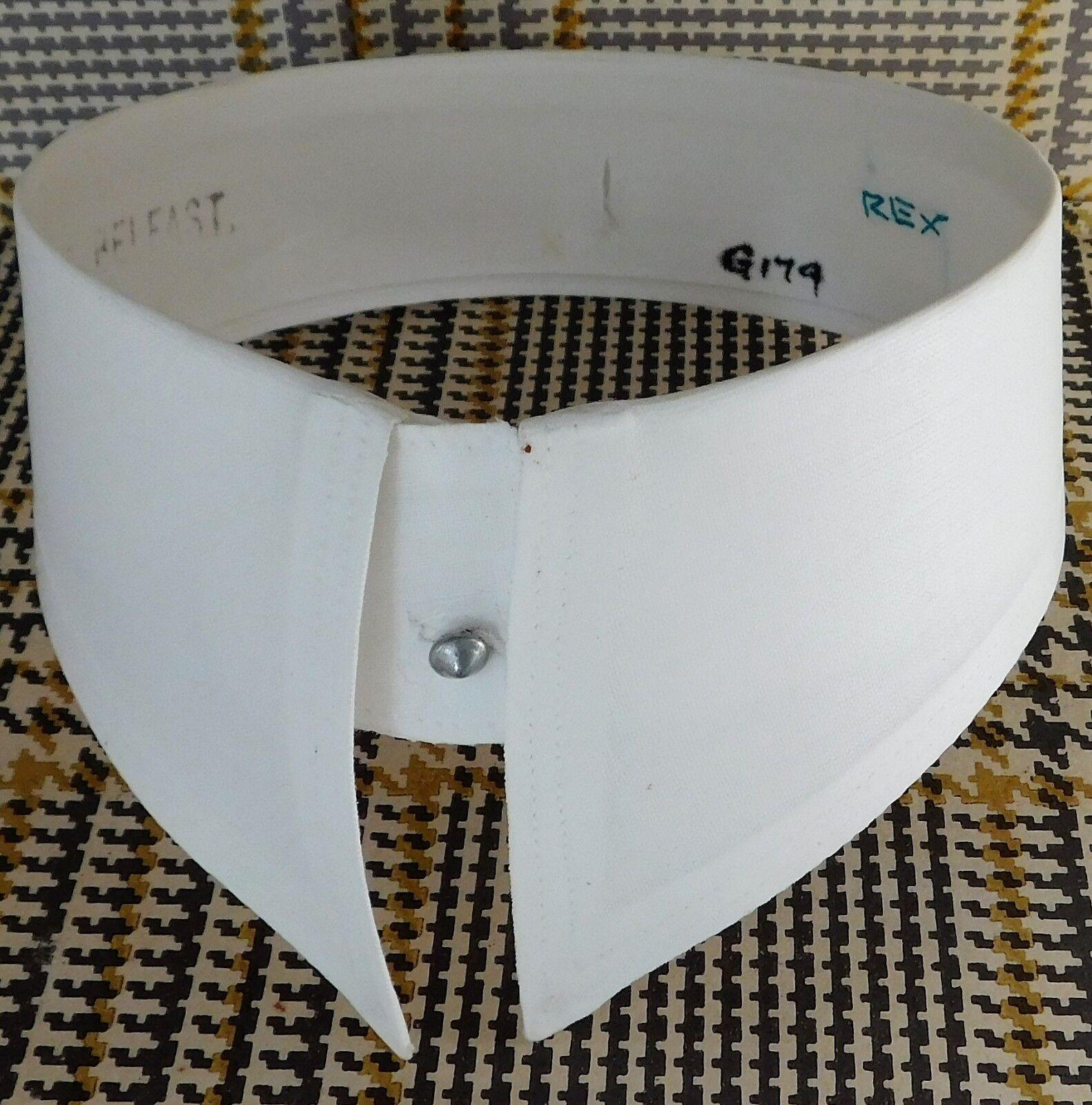 "Faulat shirt collar starched size 15"" detachable vintage post-war IMPERFECT"