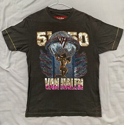 TRUNK LTD Van Halen red in concert live 1980 new t shirt  sz m thermal gray