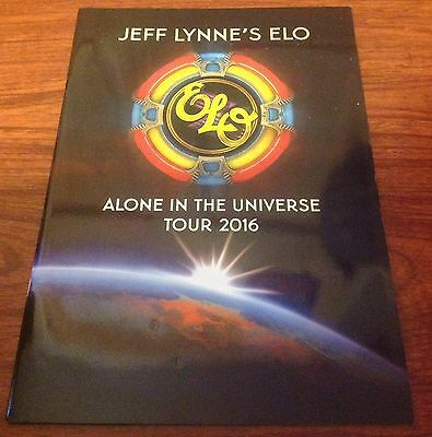 ELO JEFF LYNNE ELECTRIC LIGHT ORCHESTRA TOUR  BOOK PROGRAM ALONE IN UNIVERSE